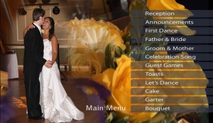 Wedding Video Scene Selection DVD Menu Example