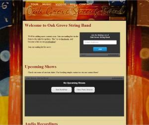 Website for Oak Grove String Band