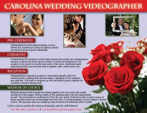 Wedding Video Services for North Carolina